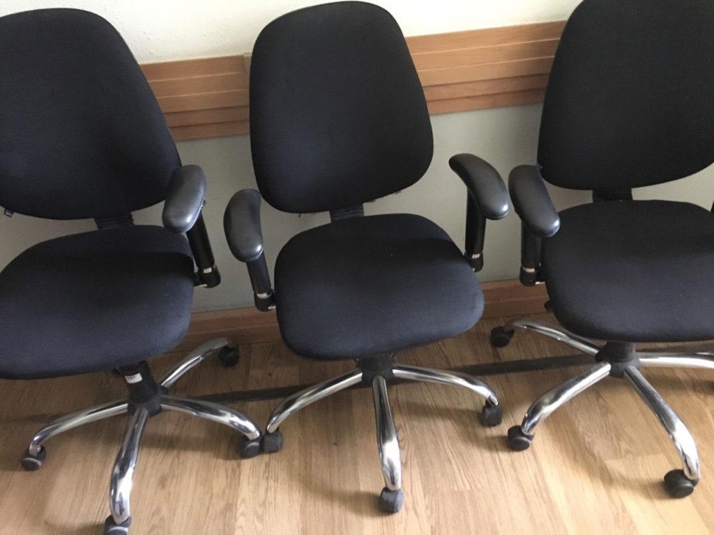 офисное кресло черное бу