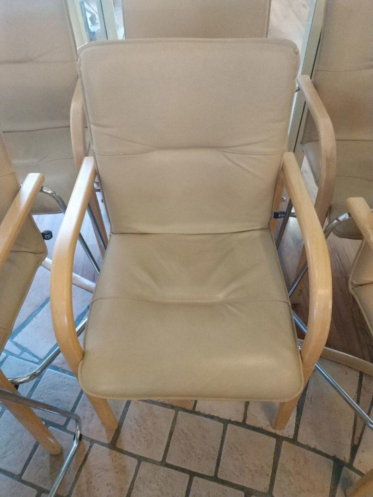 офисное кресло белое бу