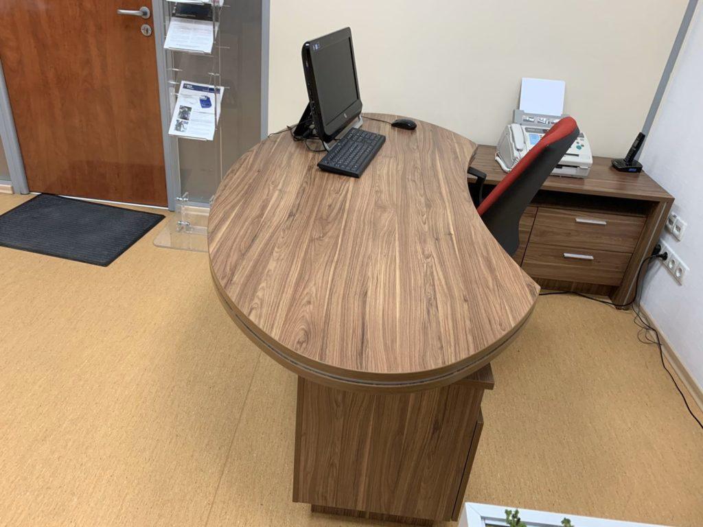элитный кабинет руководителя зебрано стол